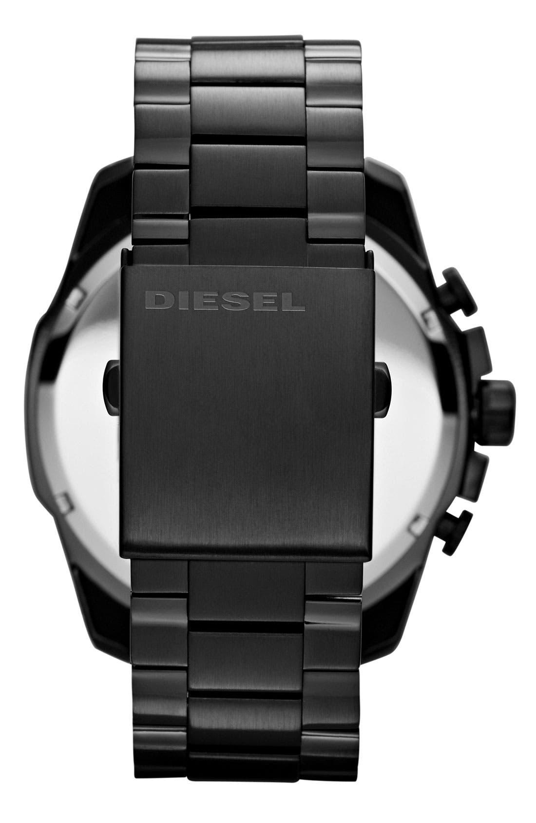 Alternate Image 3  - DIESEL® 'Mega Chief' Bracelet Watch, 51mm