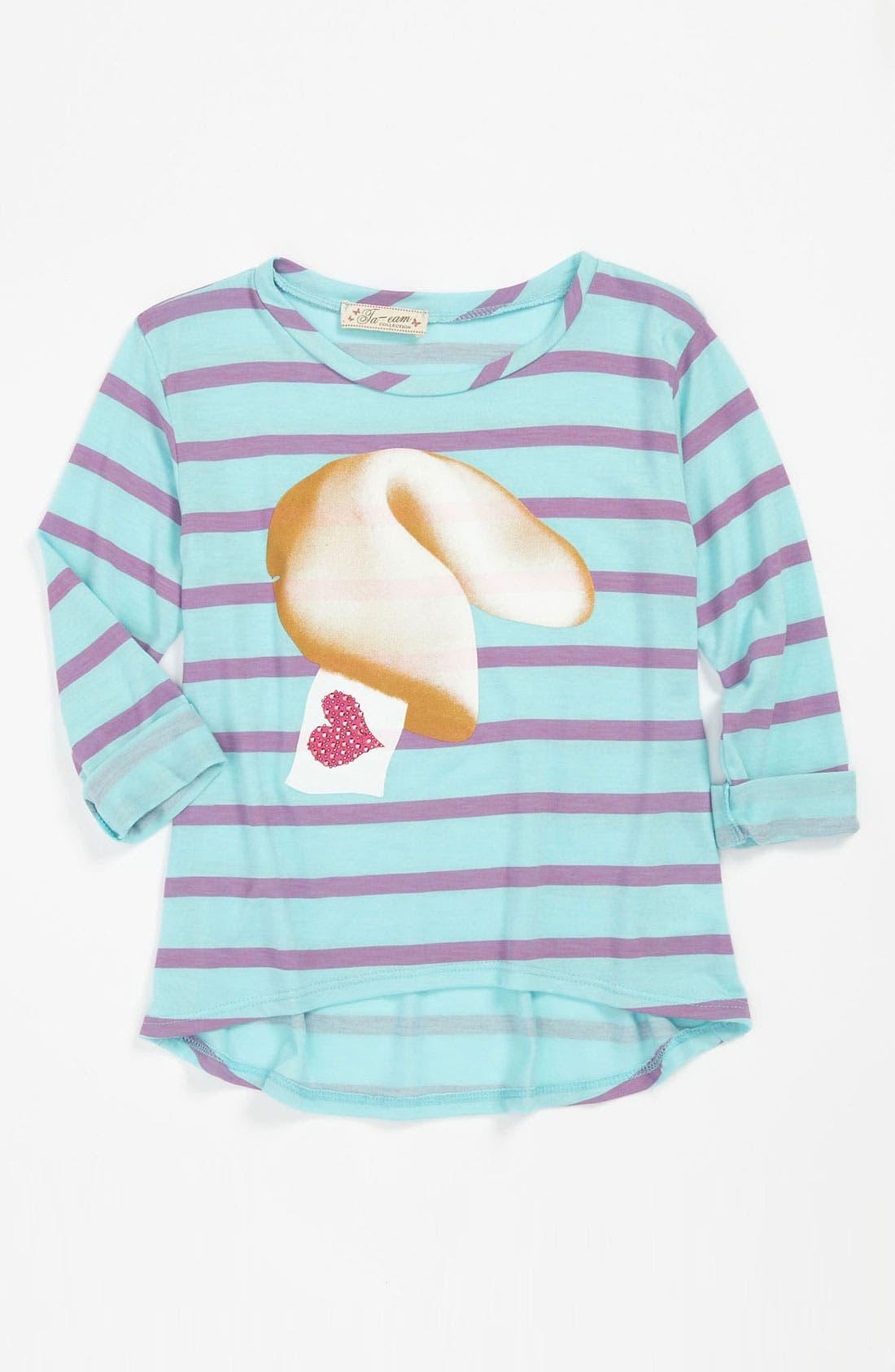 Alternate Image 1 Selected - TA-EAM Stripe Top (Little Girls)