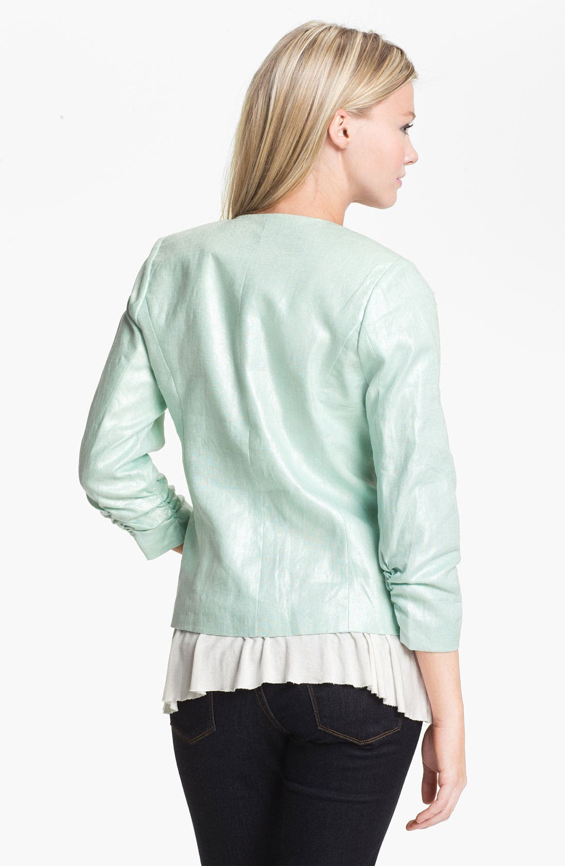 Alternate Image 2  - Gibson Collarless Linen Blazer