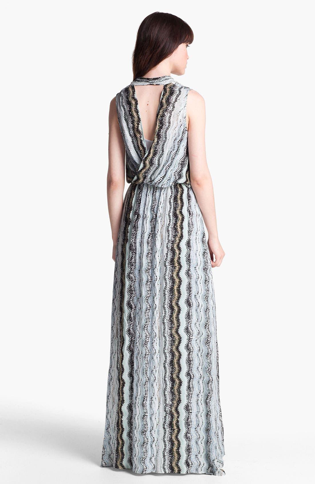 Alternate Image 2  - Ella Moss Zigzag Print Maxi Dress