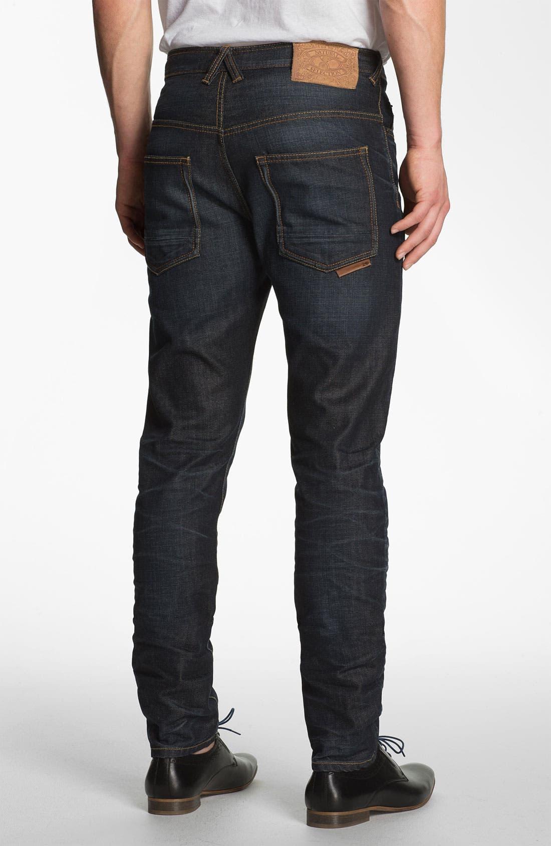 Alternate Image 1 Selected - Natural Selection Denim 'Bruised' Slim Carrot Fit Jeans (Blue Rain)