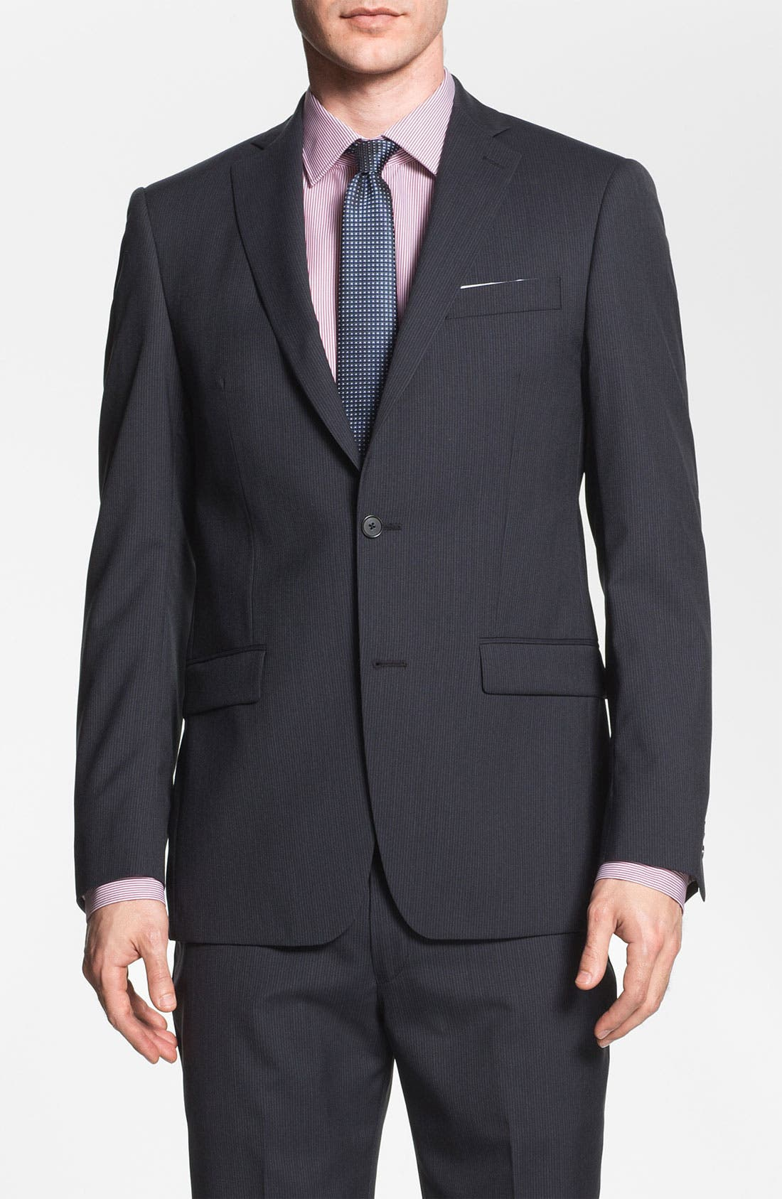 Alternate Image 1 Selected - Michael Kors Trim Fit Stripe Suit
