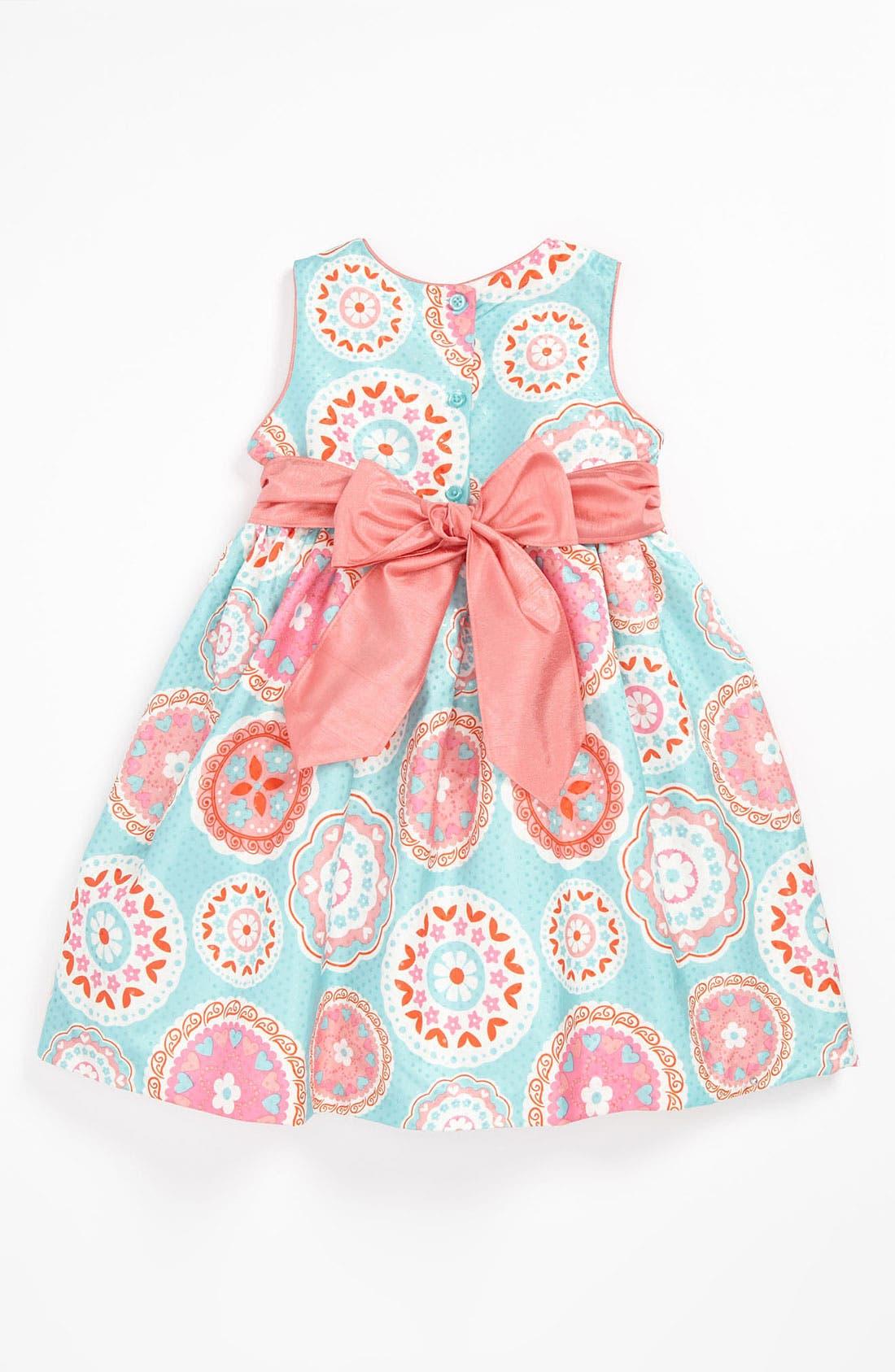 Alternate Image 2  - Pippa & Julie Medallion Print Dress (Toddler)