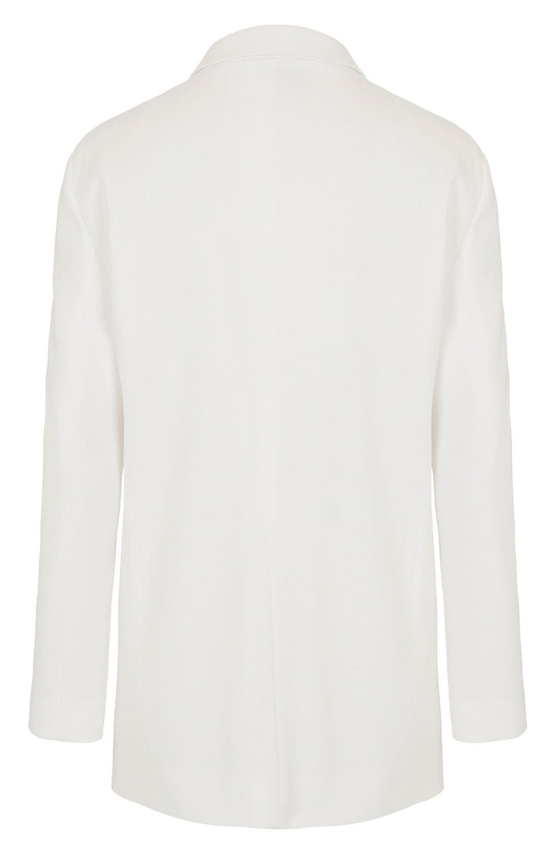 Alternate Image 3  - Topshop Unique Silk Blazer