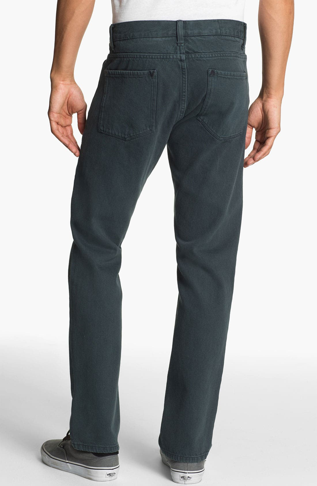 Alternate Image 1 Selected - RVCA 'Daggers' Slim Straight Leg Twill Pants