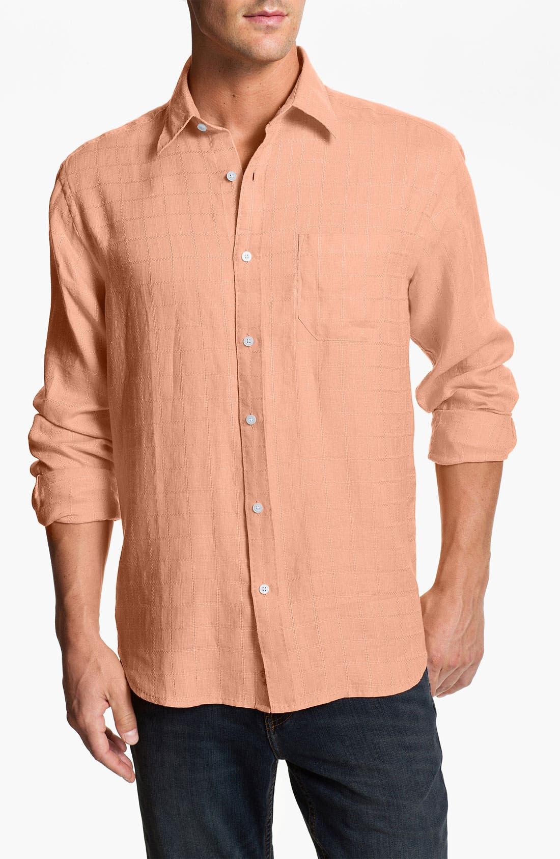 Alternate Image 1 Selected - Tommy Bahama 'Costa Sera' Linen Sport Shirt (Big & Tall)
