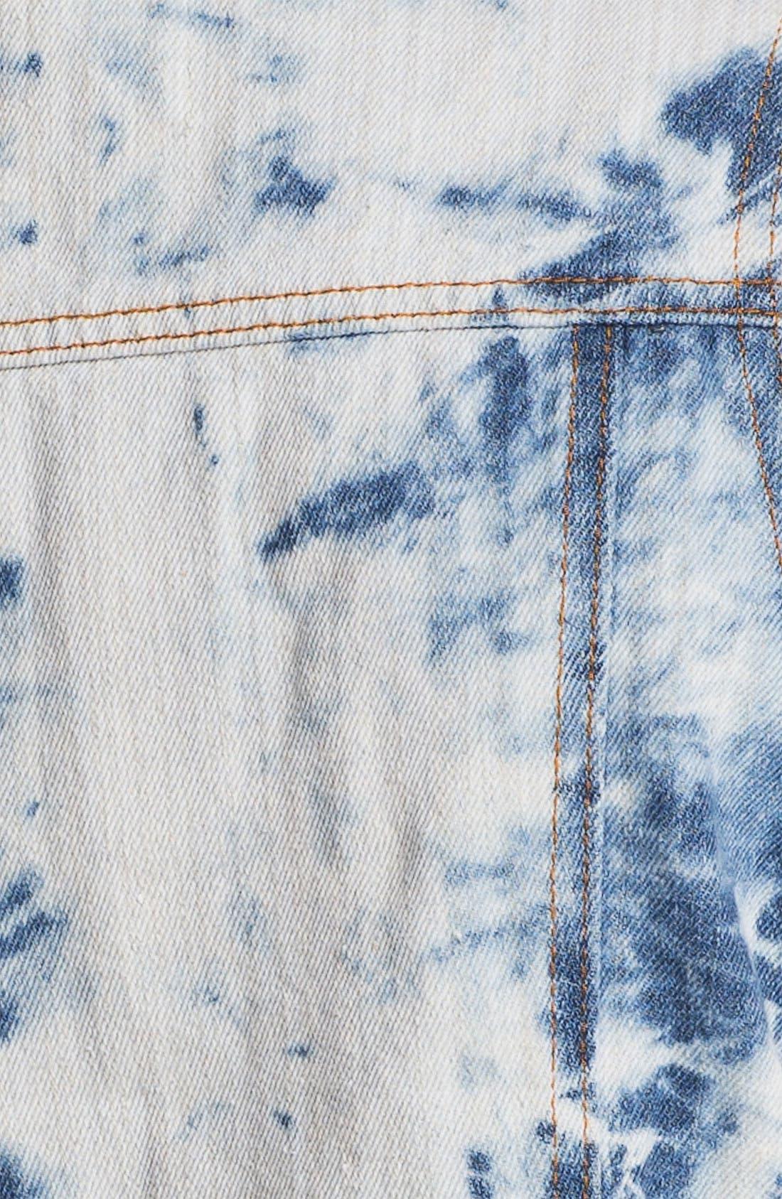 Alternate Image 3  - Thread & Supply Acid Wash Denim Vest (Juniors)