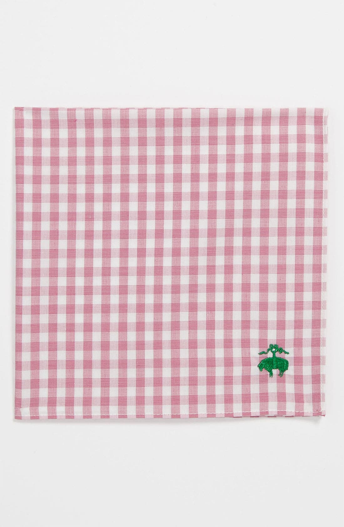 Alternate Image 1 Selected - Brooks Brothers Gingham Pocket Square