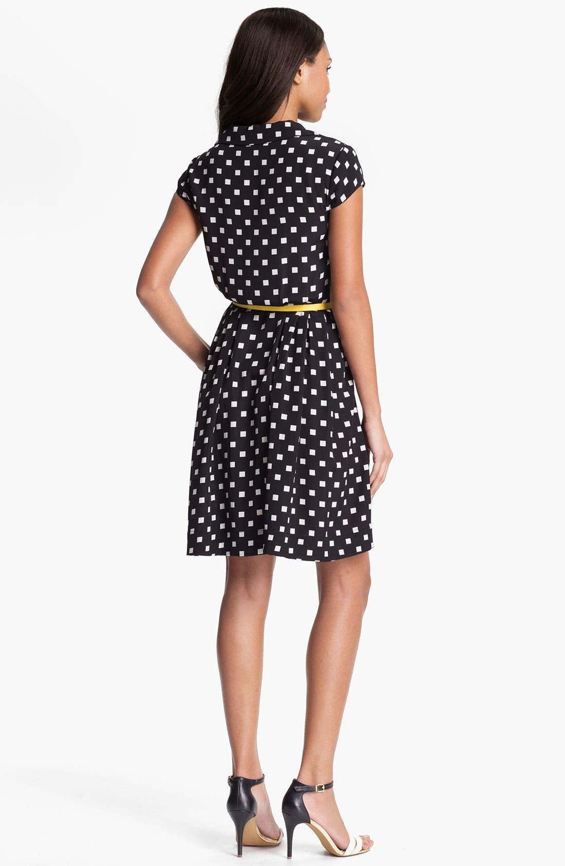 Alternate Image 2  - Suzi Chin Maggy Boutique Belted Print Shirtdress