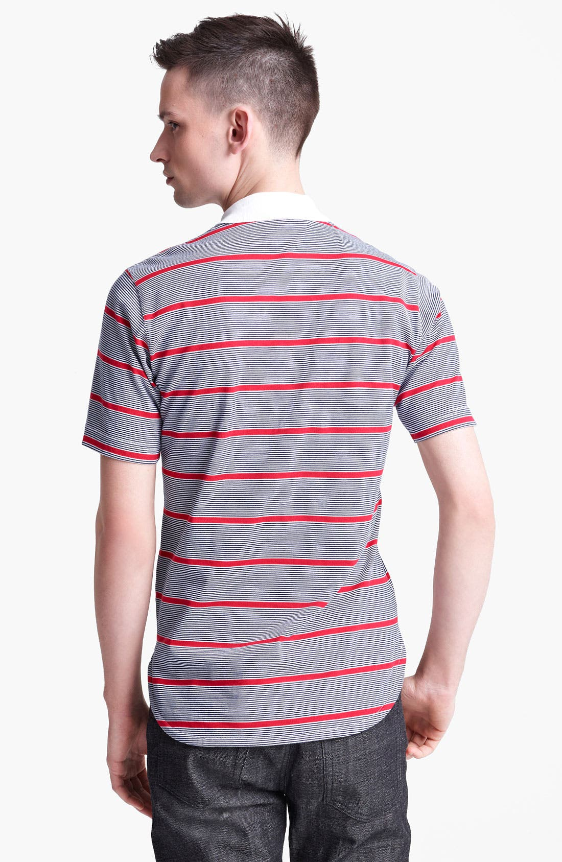 Alternate Image 2  - Junya Watanabe Stripe Jersey Cotton Polo