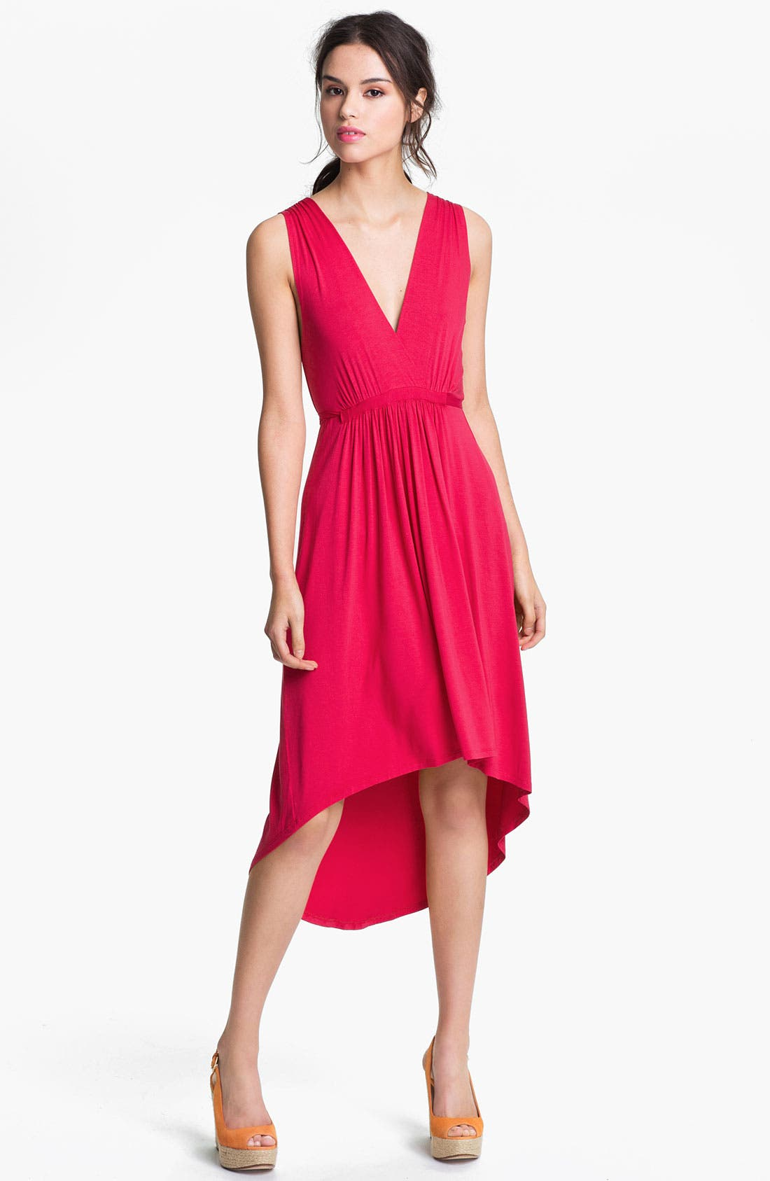Main Image - Felicity & Coco Pleated High/Low Dress (Nordstrom Exclusive)