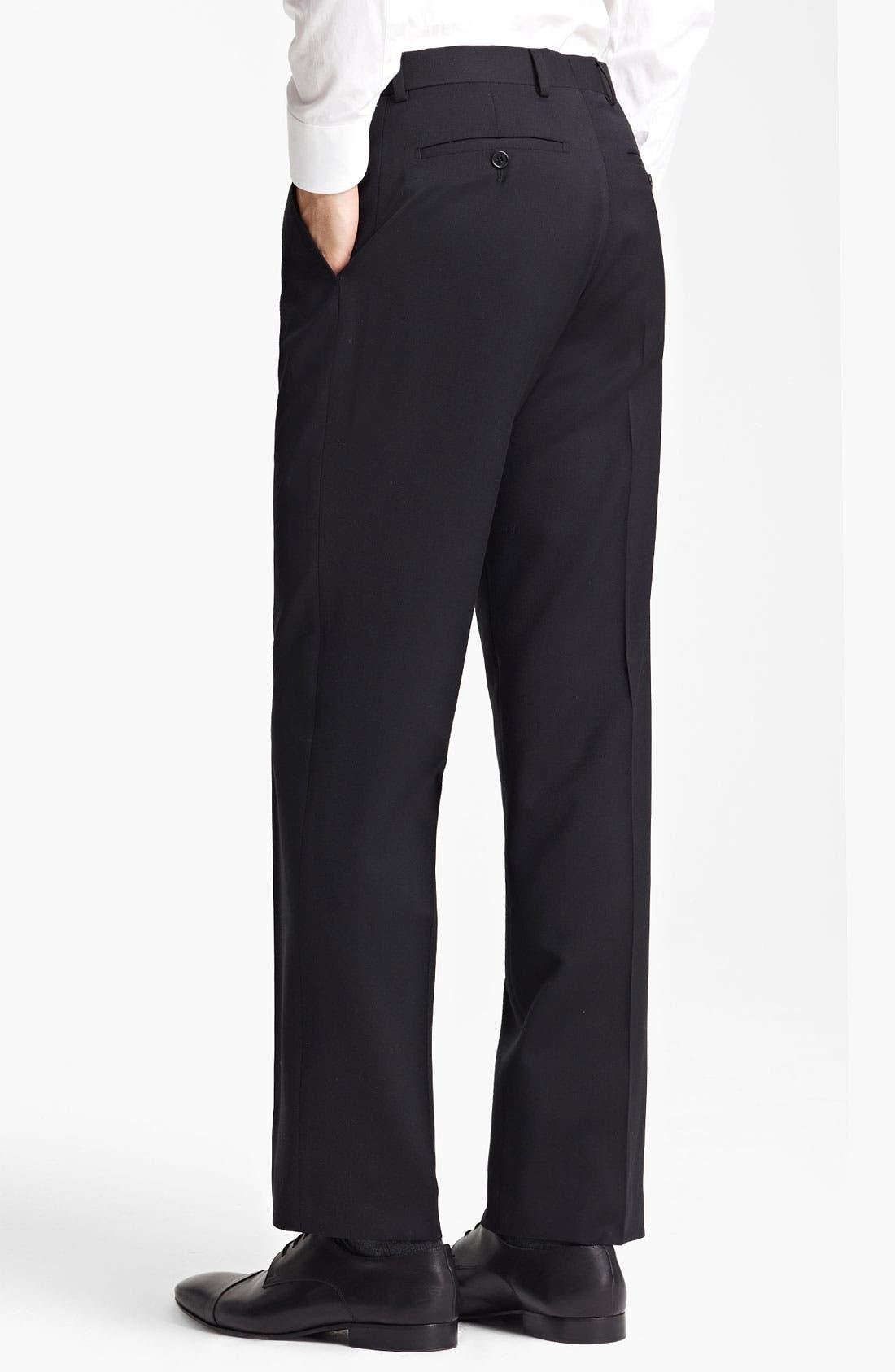 Alternate Image 2  - Armani Collezioni Flat Front Wool Trousers