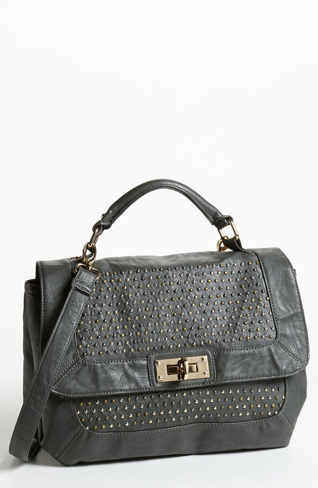 Alternate Image 1 Selected - Cesca Studded Top Handle Satchel (Online Only)