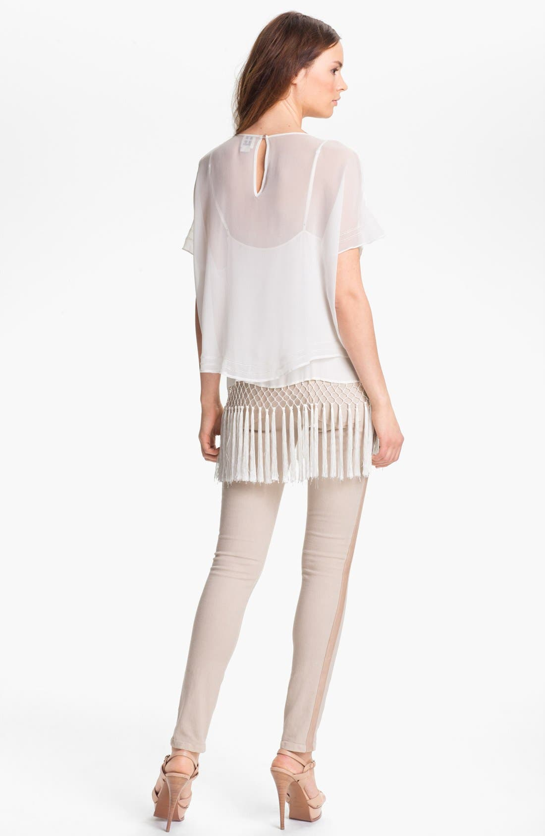 Alternate Image 4  - Haute Hippie Embroidered & Fringe Hem Blouse