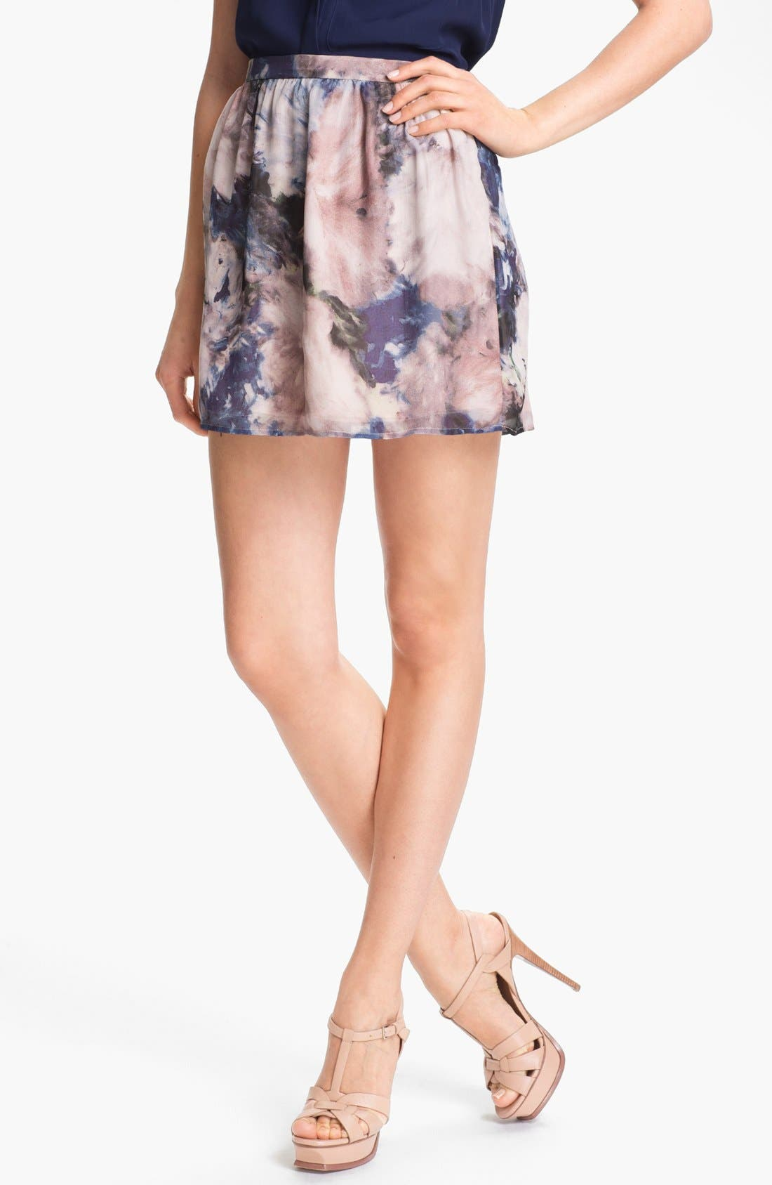 Alternate Image 1 Selected - Haute Hippie Floral Print Silk Skirt