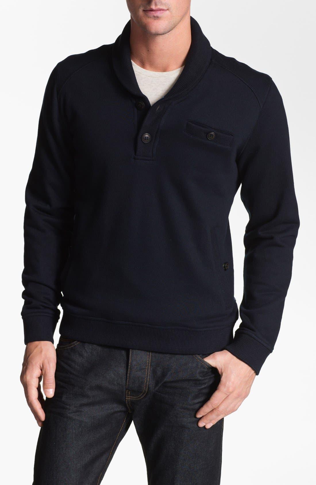 Alternate Image 1 Selected - Ted Baker London 'Norush' Shawl Collar Sweatshirt