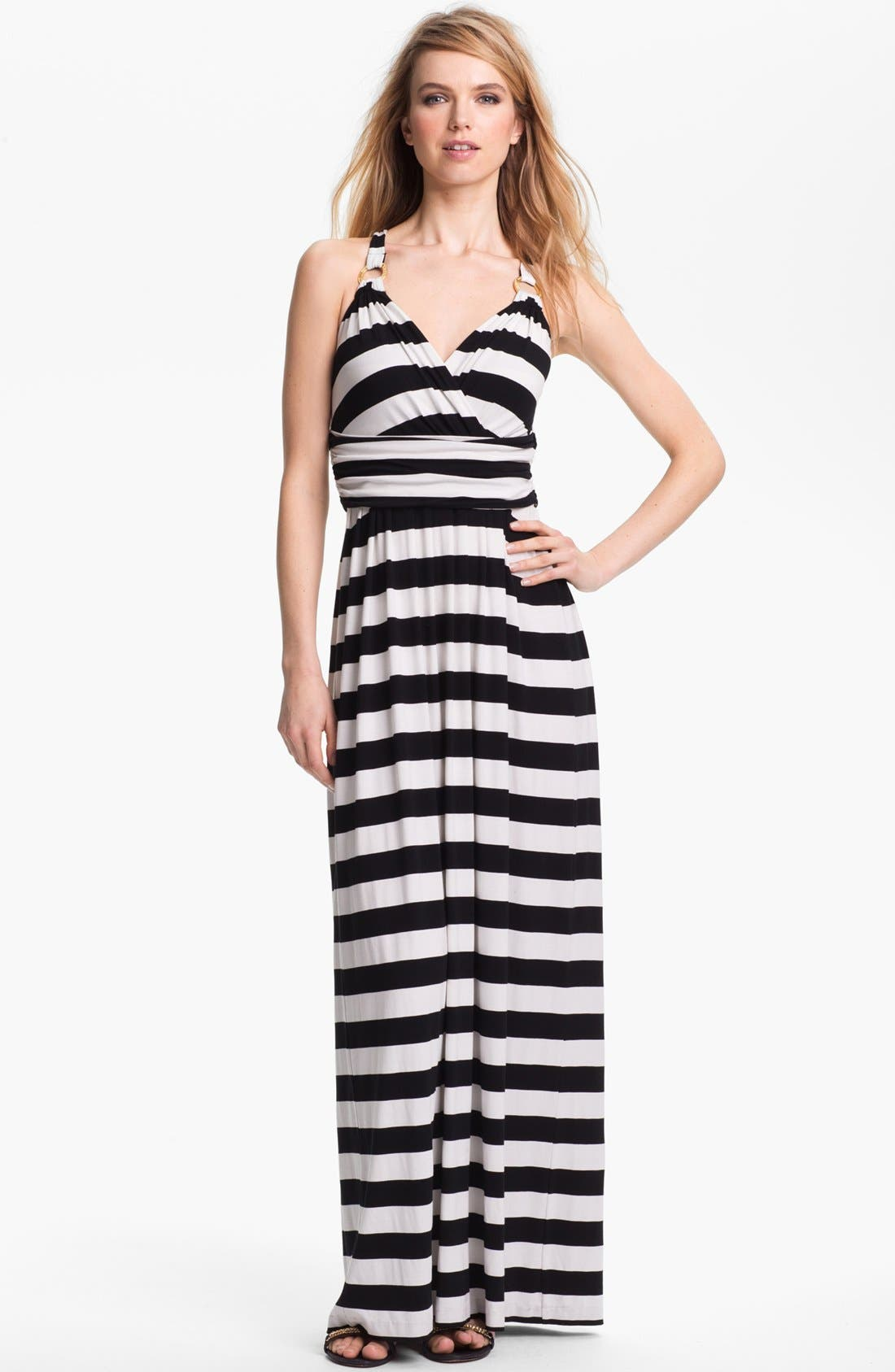 Main Image - Vince Camuto Stripe Halter Maxi Dress