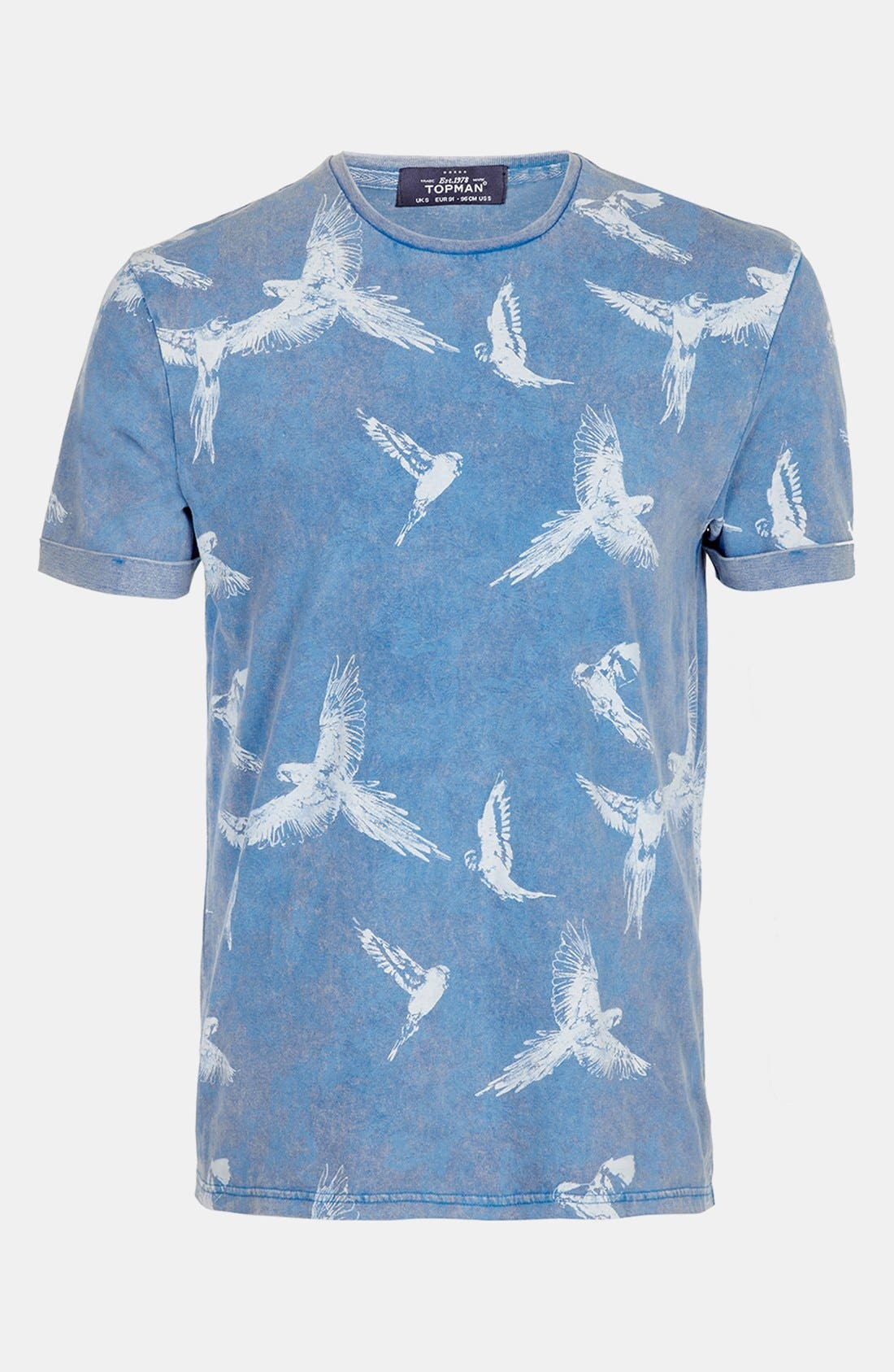 Alternate Image 1 Selected - Topman Allover Bird Print T-Shirt