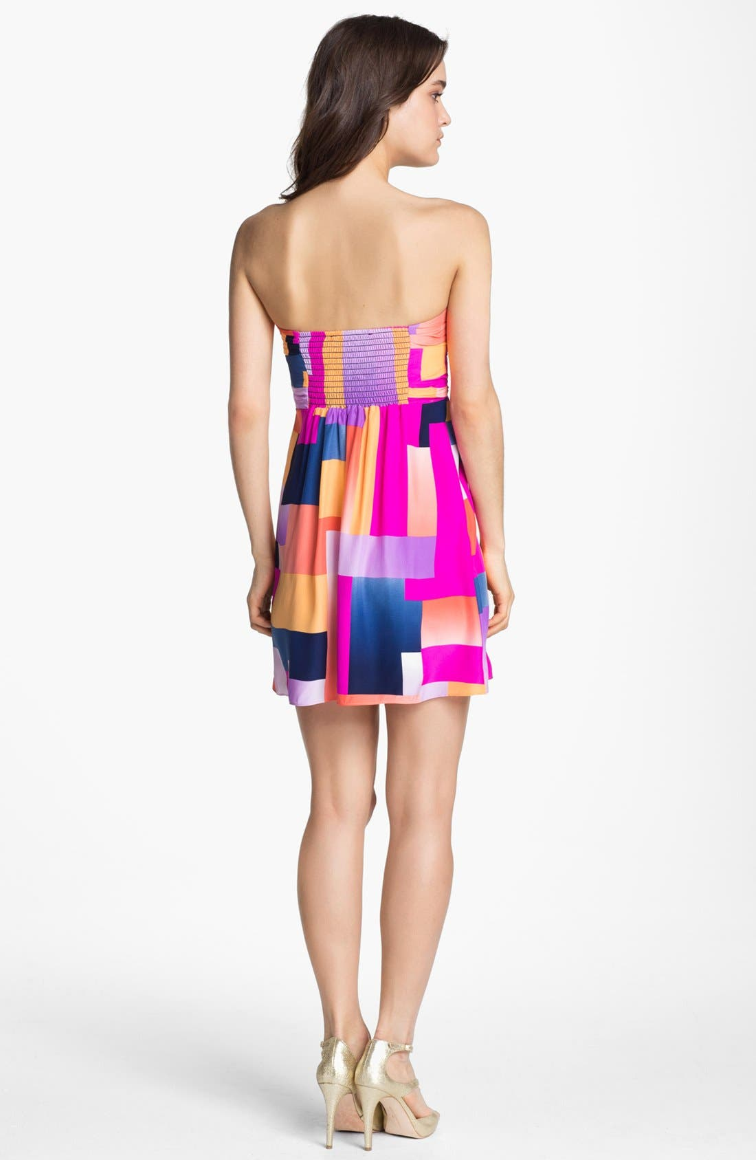 Alternate Image 2  - ALICE & TRIXIE 'Britney' Print Silk Fit & Flare Dress