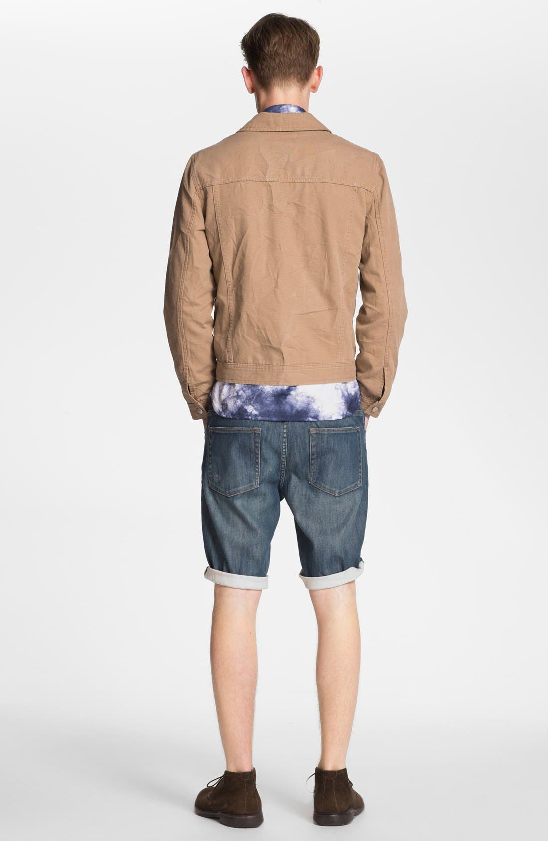 Alternate Image 3  - Topman Washed Denim Shorts