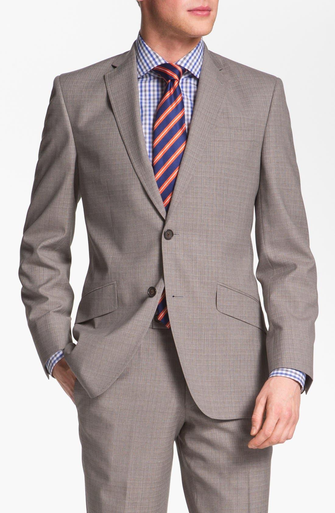 Alternate Image 1 Selected - Ted Baker London Trim Fit Wool Suit