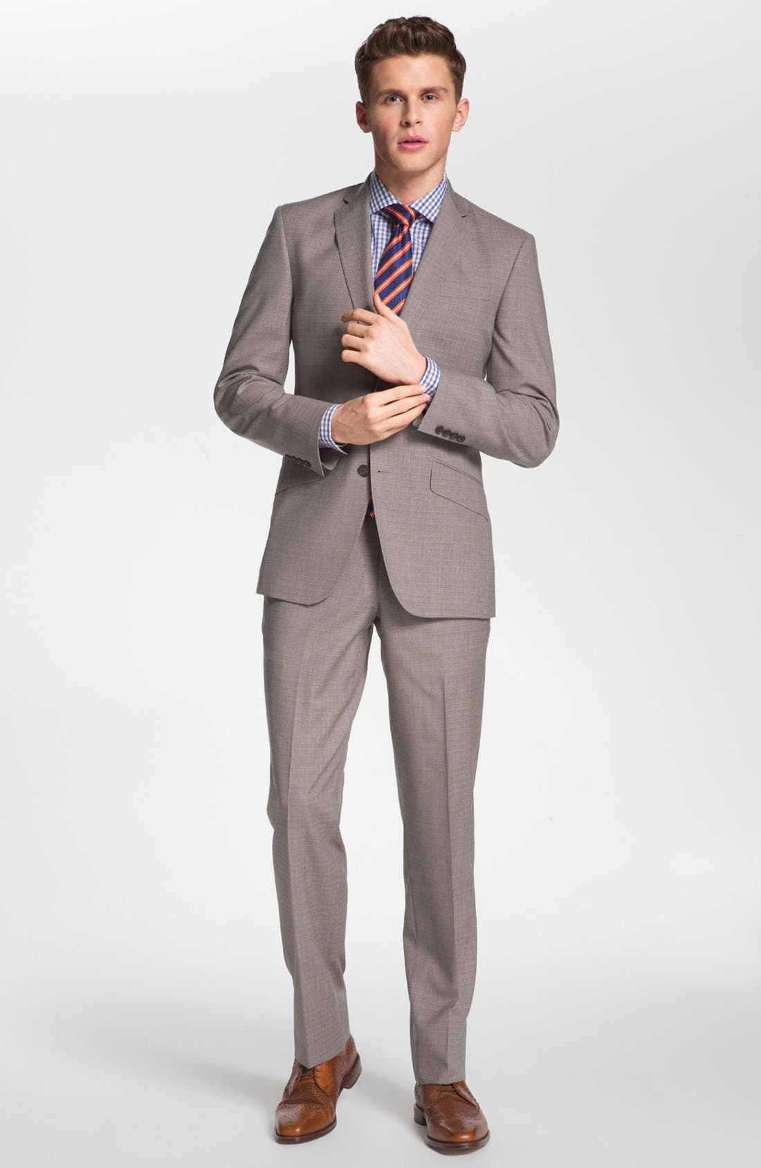 Alternate Image 2  - Ted Baker London Trim Fit Wool Suit