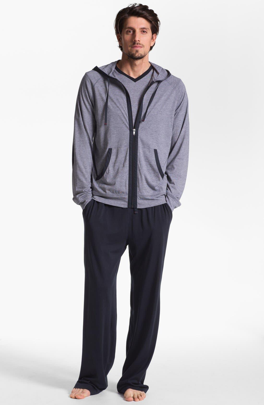 Alternate Image 4  - Daniel Buchler Pima Cotton & Modal Zip Hoodie