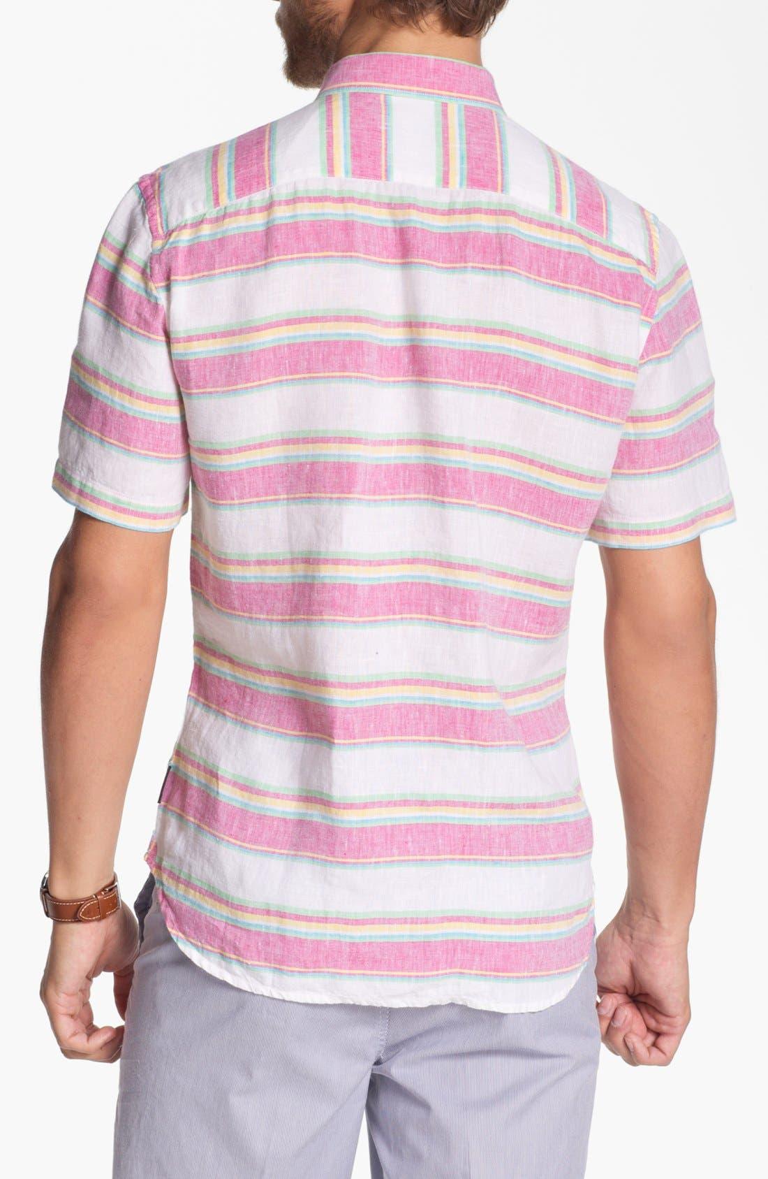 Alternate Image 2  - French Connection Short Sleeve Linen Sport Shirt