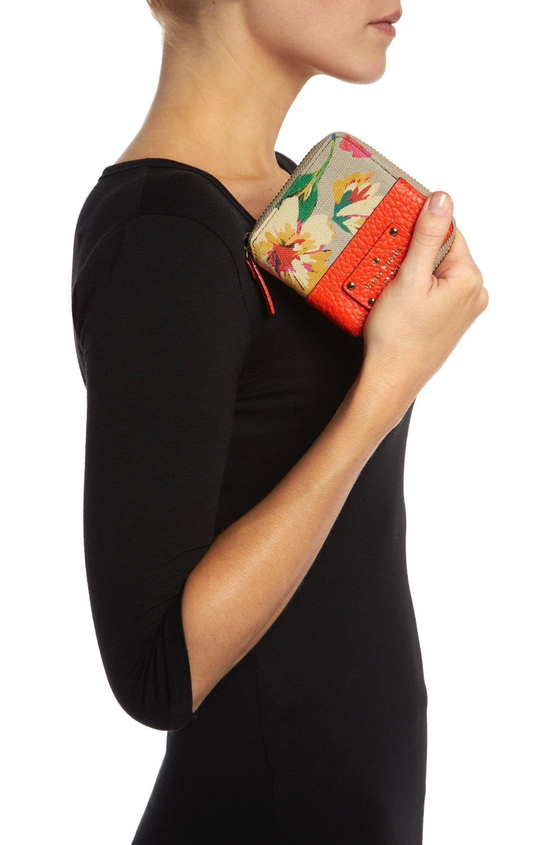 Alternate Image 2  - kate spade new york 'grove court floral - delores' french wallet