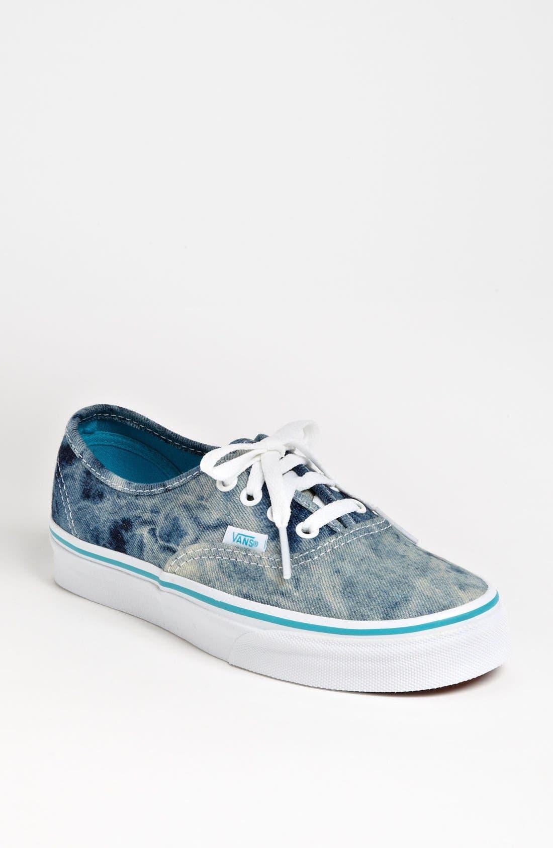Alternate Image 1 Selected - Vans 'Authentic' Acid Wash Denim Sneaker