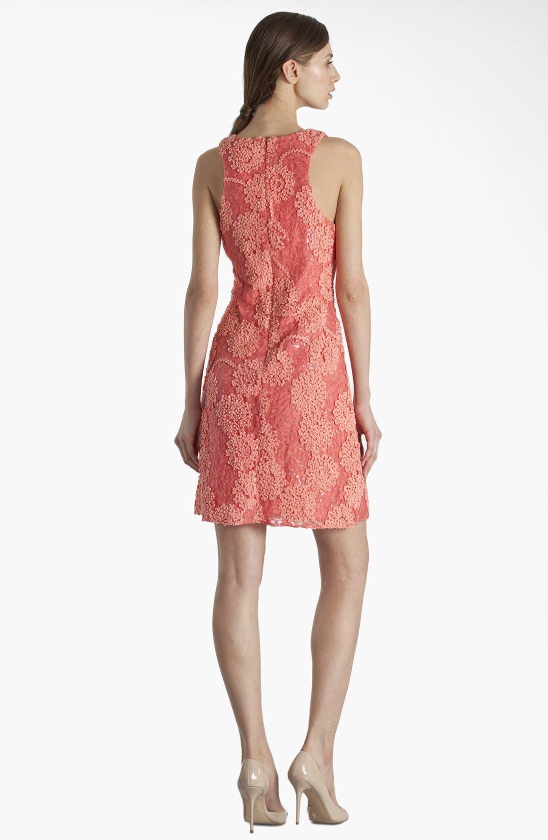 Alternate Image 2  - JS Boutique Racerback Sequin Lace Sheath Dress