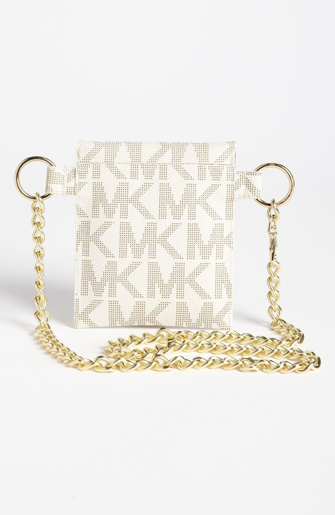 Alternate Image 4  - MICHAEL Michael Kors Faux Leather Chain Belt Bag