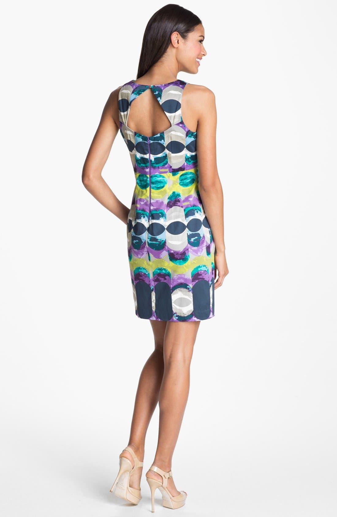 Alternate Image 2  - Donna Morgan 'Kimmy' Print Satin Sheath Dress