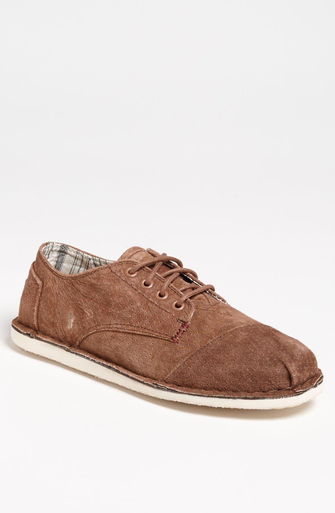 Alternate Image 1 Selected - TOMS 'Desert' Perforated Suede Sneaker (Men)