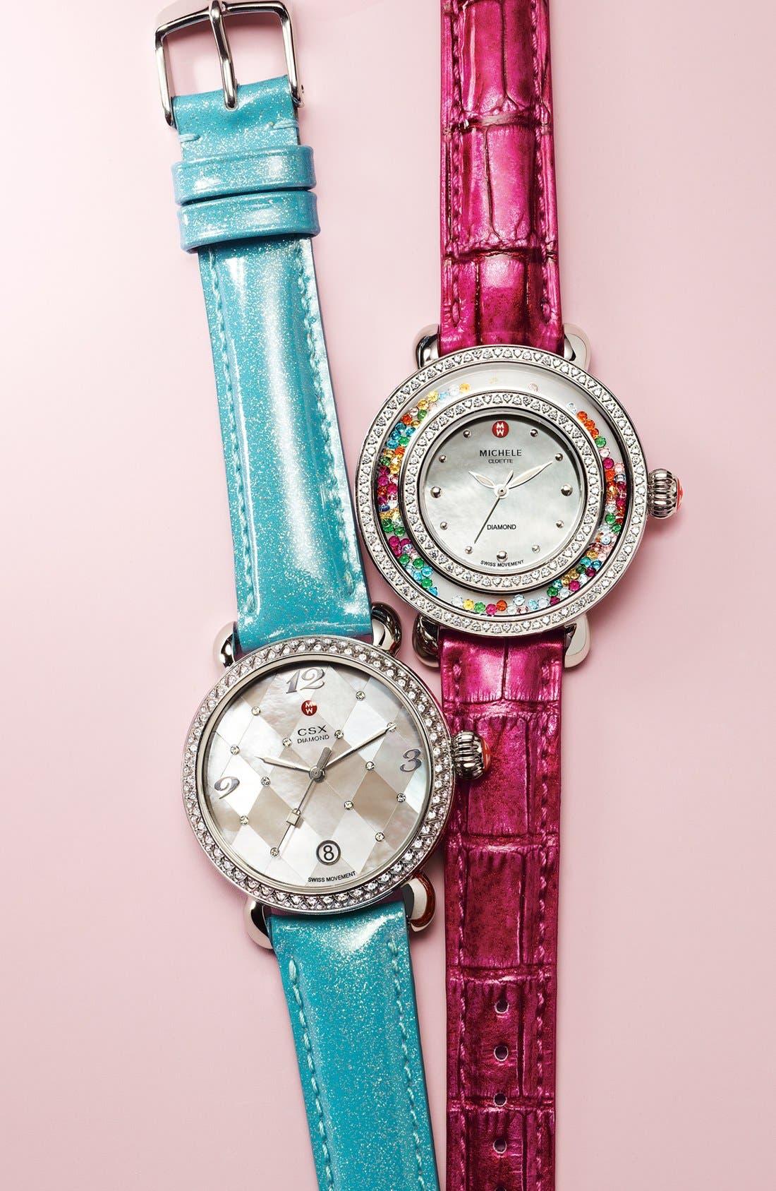 Alternate Image 1 Selected - MICHELE 'Cloette Carnival' Customizable Watch