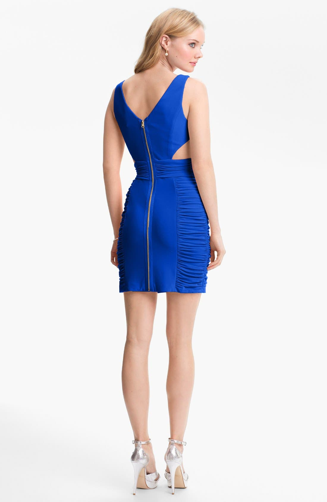 Alternate Image 2  - Hailey Logan Cutout Crisscross Dress (Juniors) (Online Only)