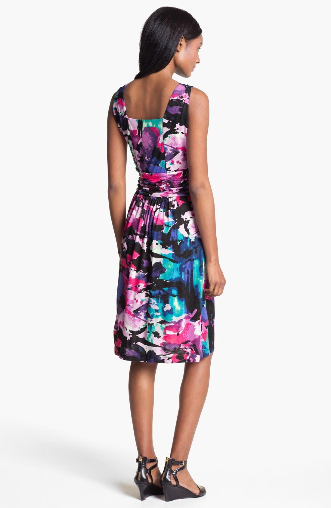Alternate Image 2  - Nic + Zoe Sleeveless Faux Wrap Print Dress