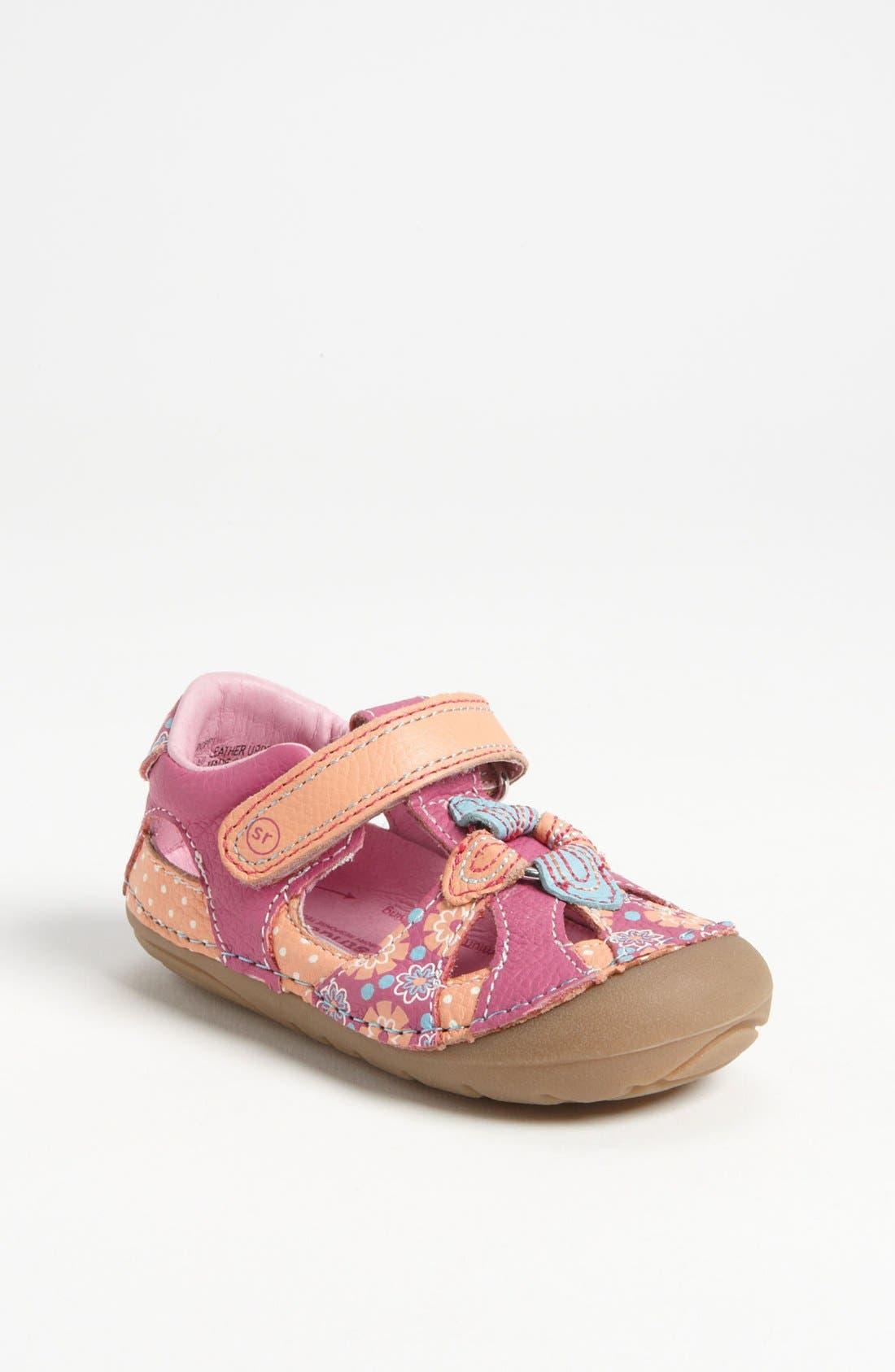 Alternate Image 1 Selected - Stride Rite 'Poppy' Sandal (Baby & Walker)