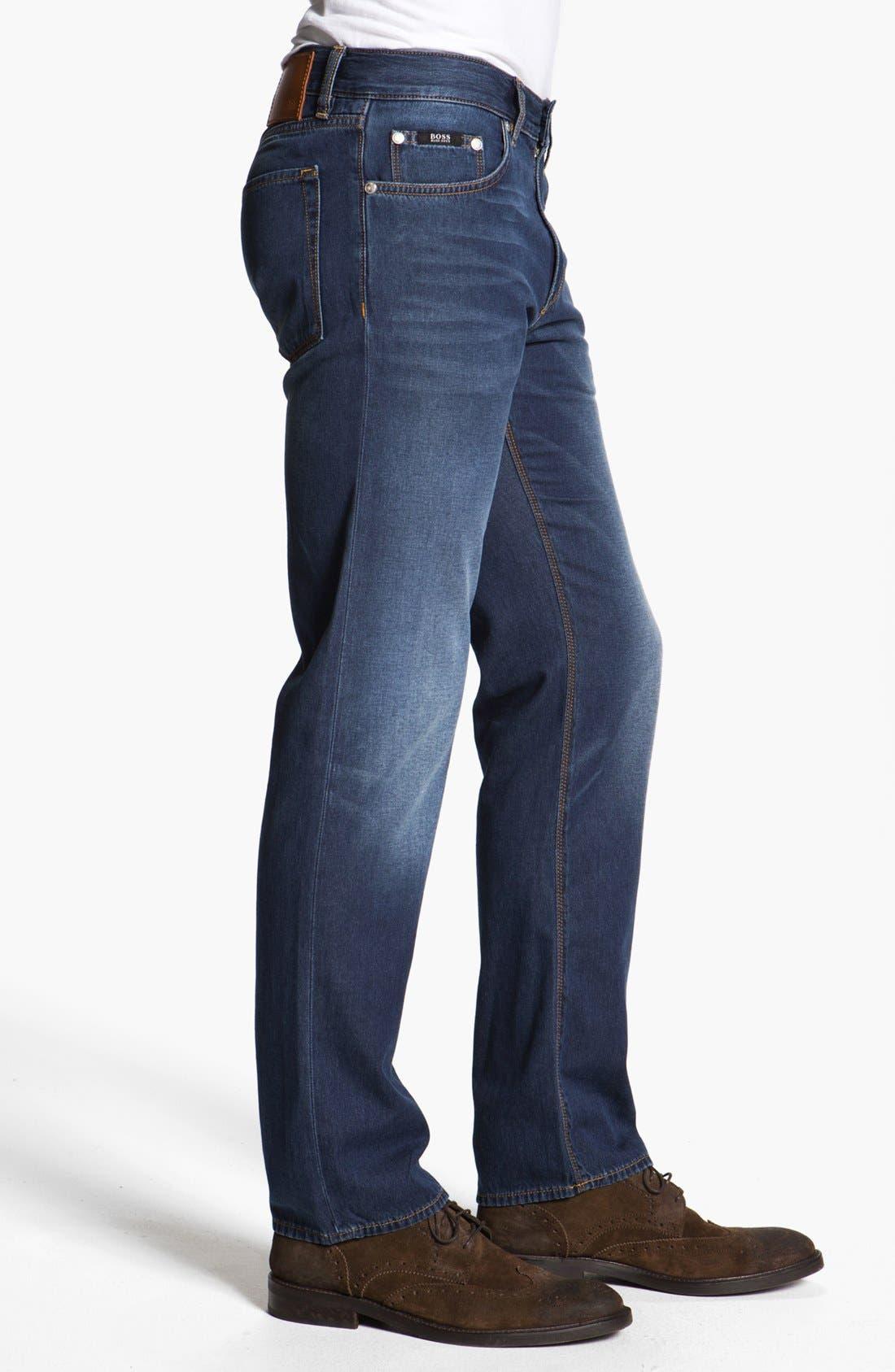 Alternate Image 3  - BOSS HUGO BOSS 'Maine' Straight Leg Jeans (Medium Rinse)