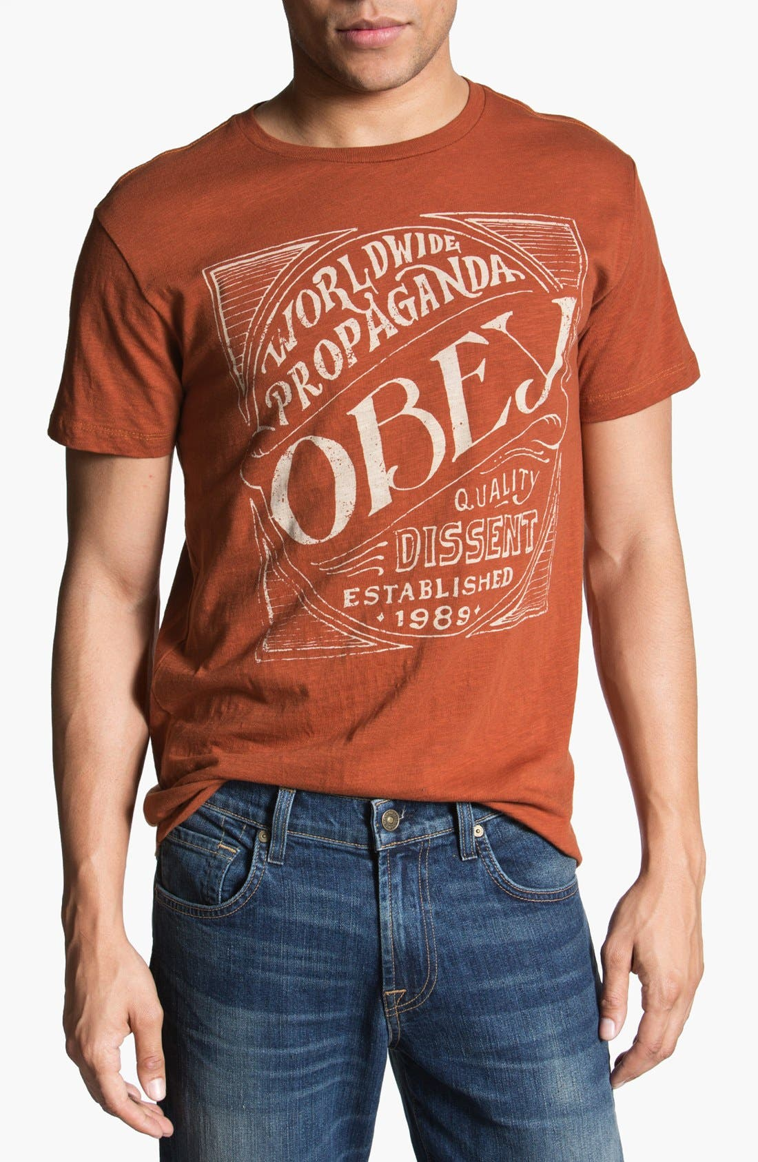 Alternate Image 1 Selected - Obey 'Old Brew' Graphic T-Shirt