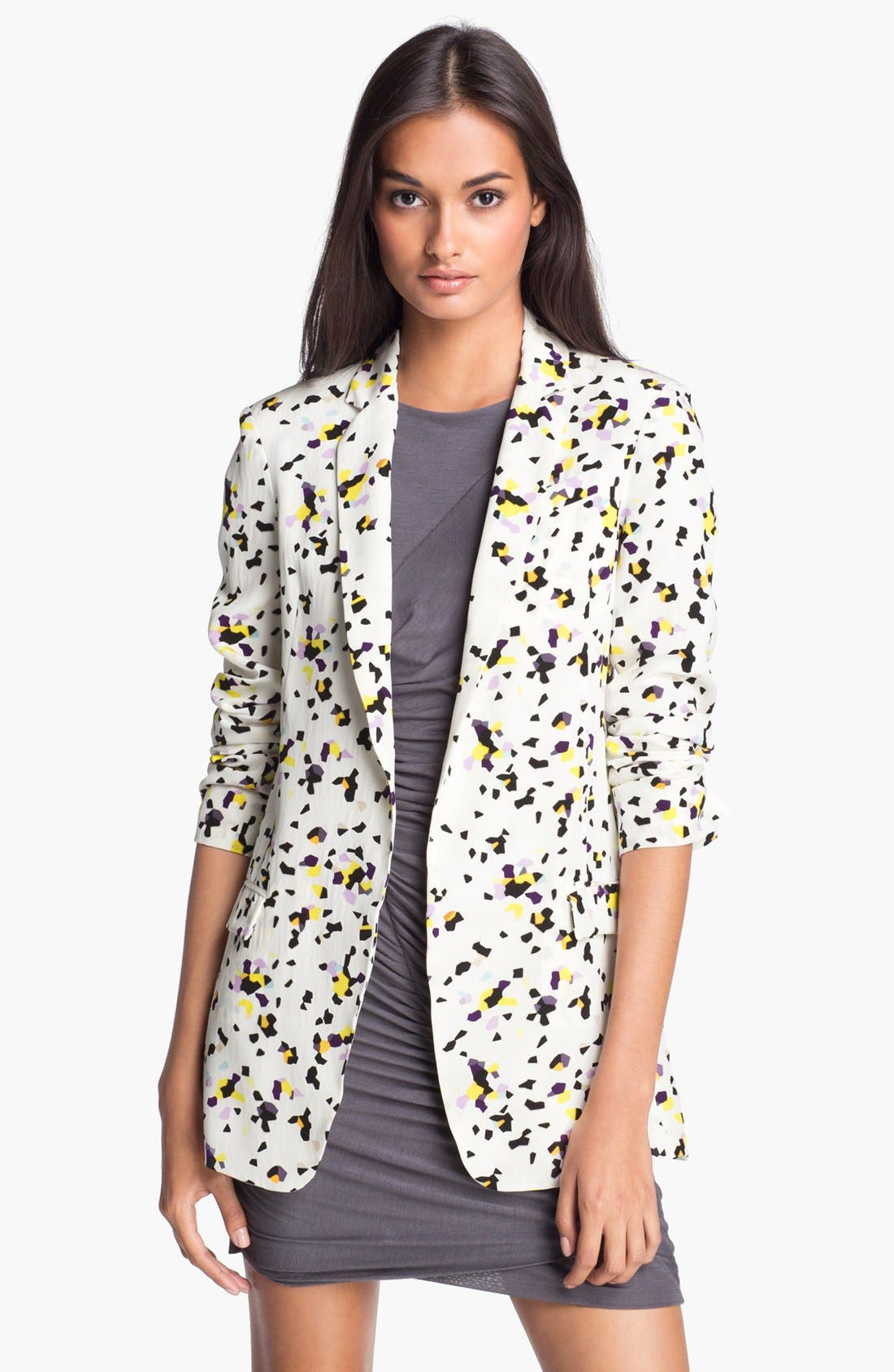 Alternate Image 1 Selected - Diane von Furstenberg Print Silk Blazer