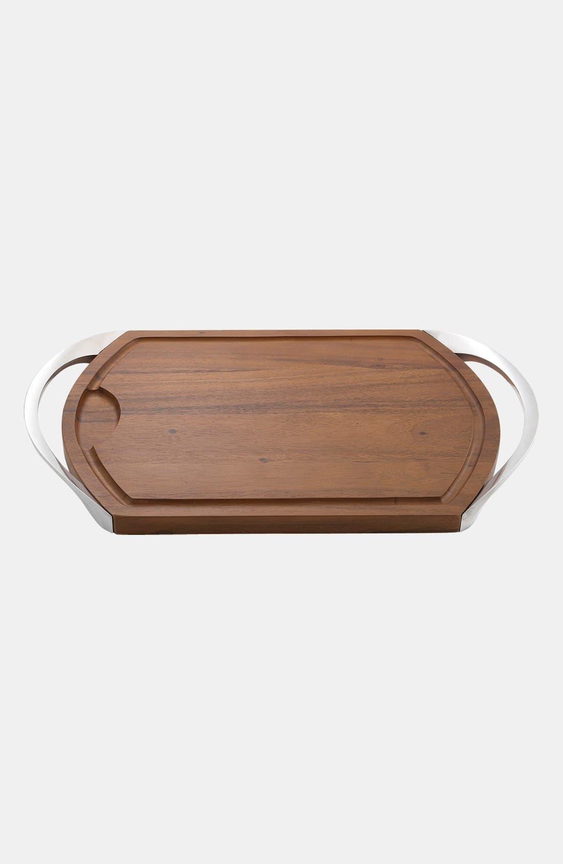 Carve & Serve Cutting Board,                         Main,                         color, Silver