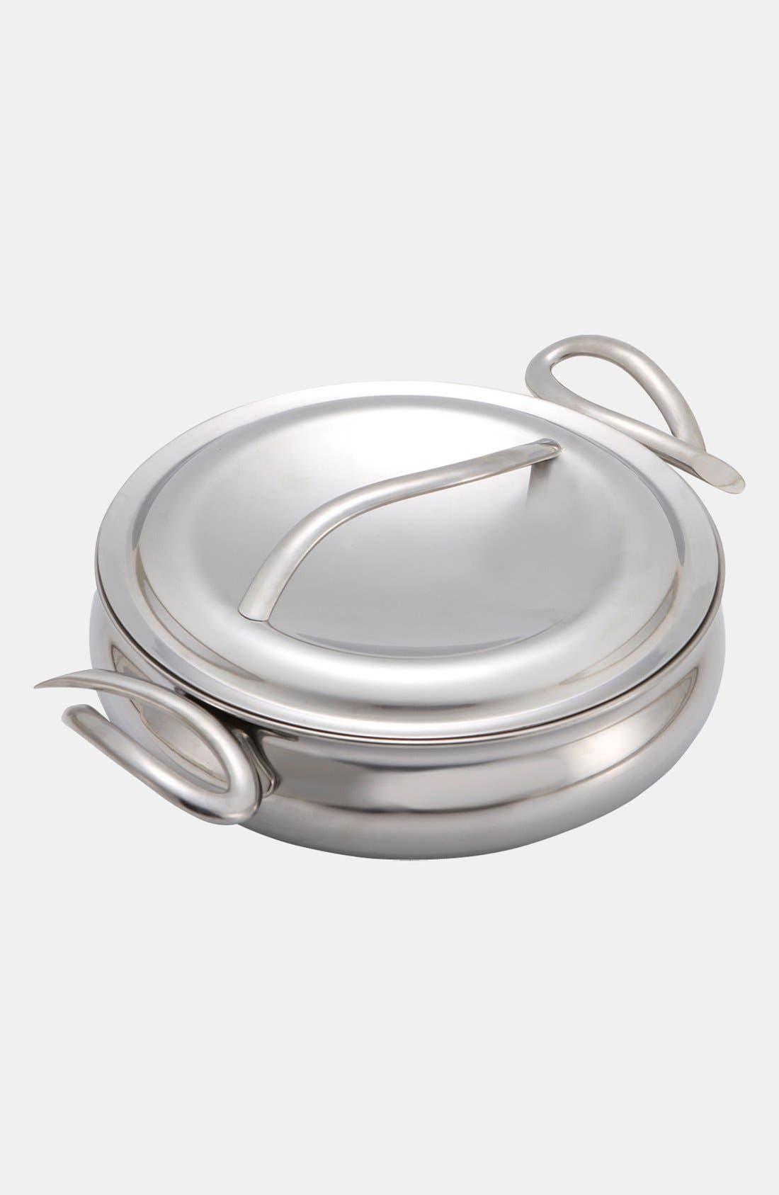 CookServ 10 Inch Sauté Pan,                         Main,                         color, Silver