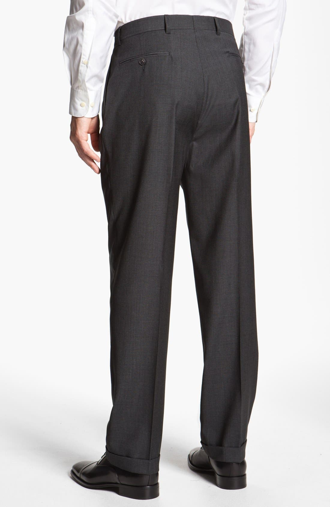 Alternate Image 5  - Joseph Abboud 'Signature Silver' Plaid Wool Suit (Online Only)