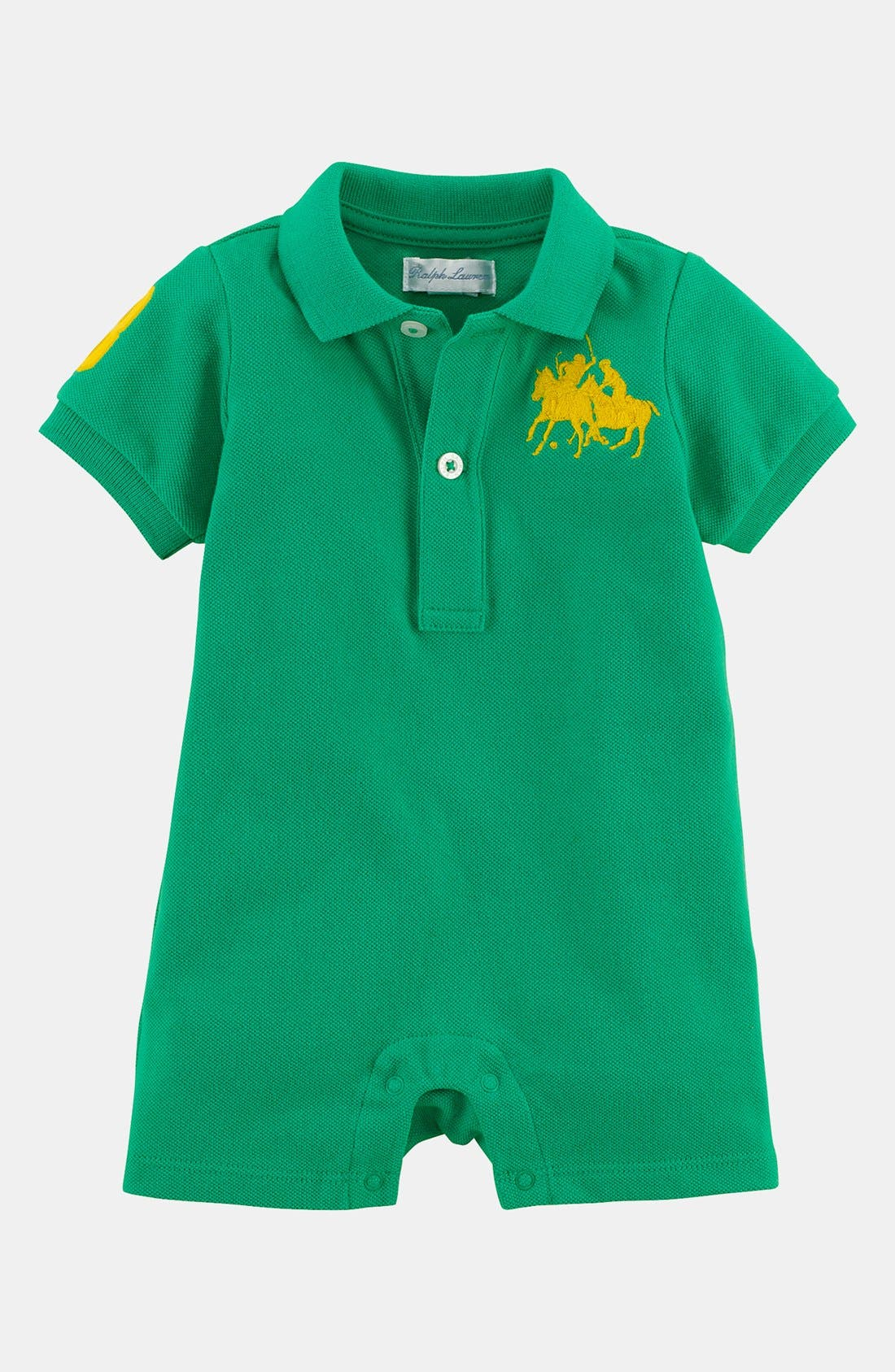 Alternate Image 1 Selected - Ralph Lauren Romper (Baby)