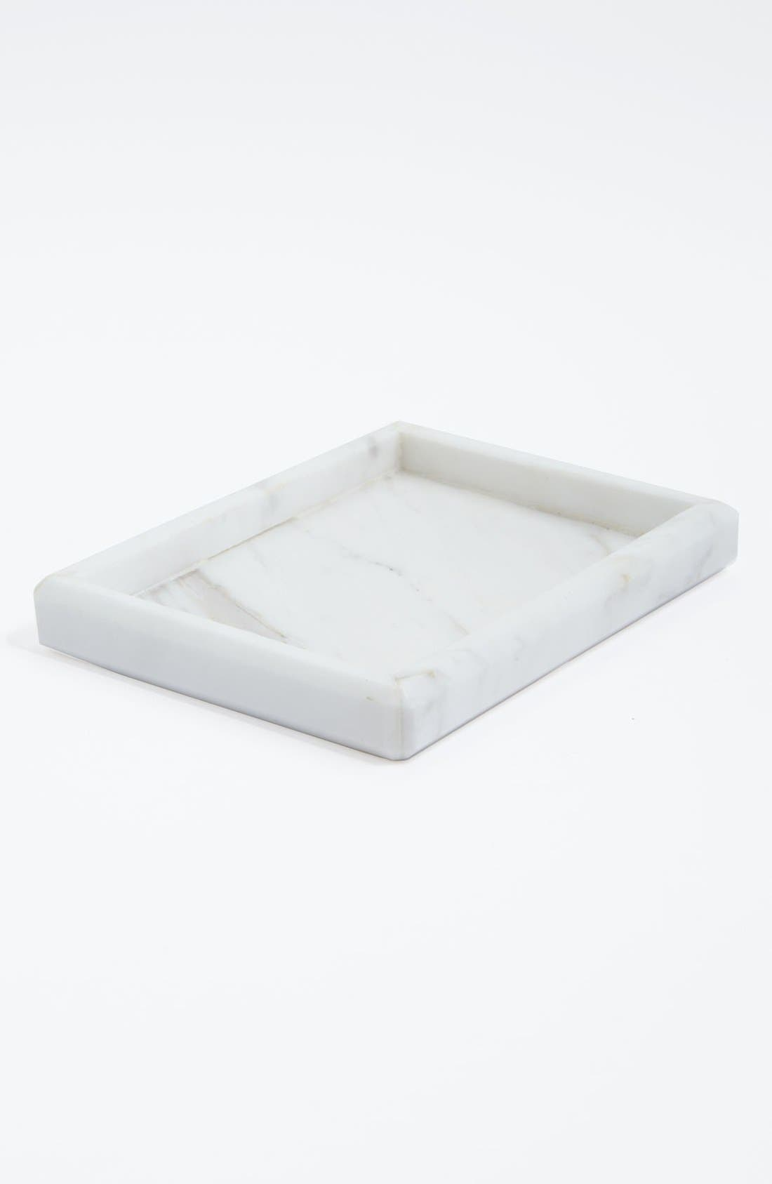 Alternate Image 1 Selected - Waterworks Studio 'Luna' White Marble Soap Dish (Online Only)