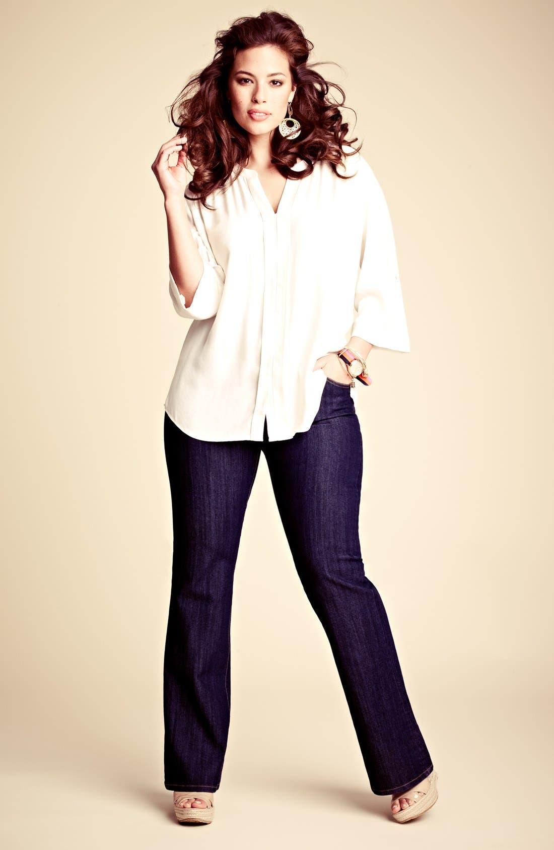 Alternate Image 4  - MICHAEL Michael Kors 'Sausalito' Bootcut Jeans (Plus Size)