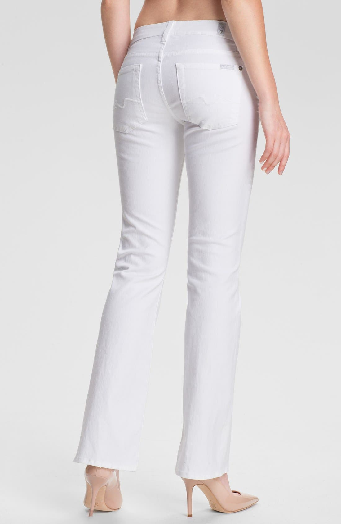 Alternate Image 2  - 7 For All Mankind® 'Kimmie' Bootcut Jeans (Clean White)