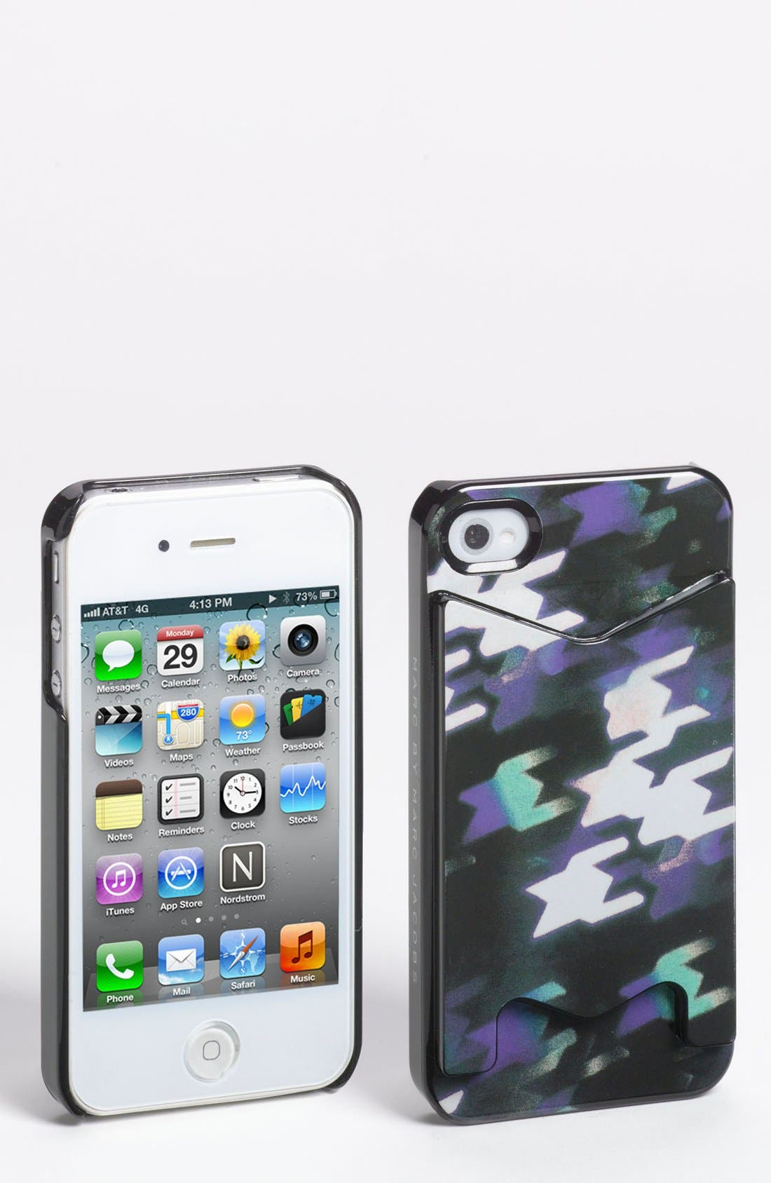 Alternate Image 1 Selected - MARC BY MARC JACOBS 'Shooting Houndstooth' iPhone 5 & 5S Case