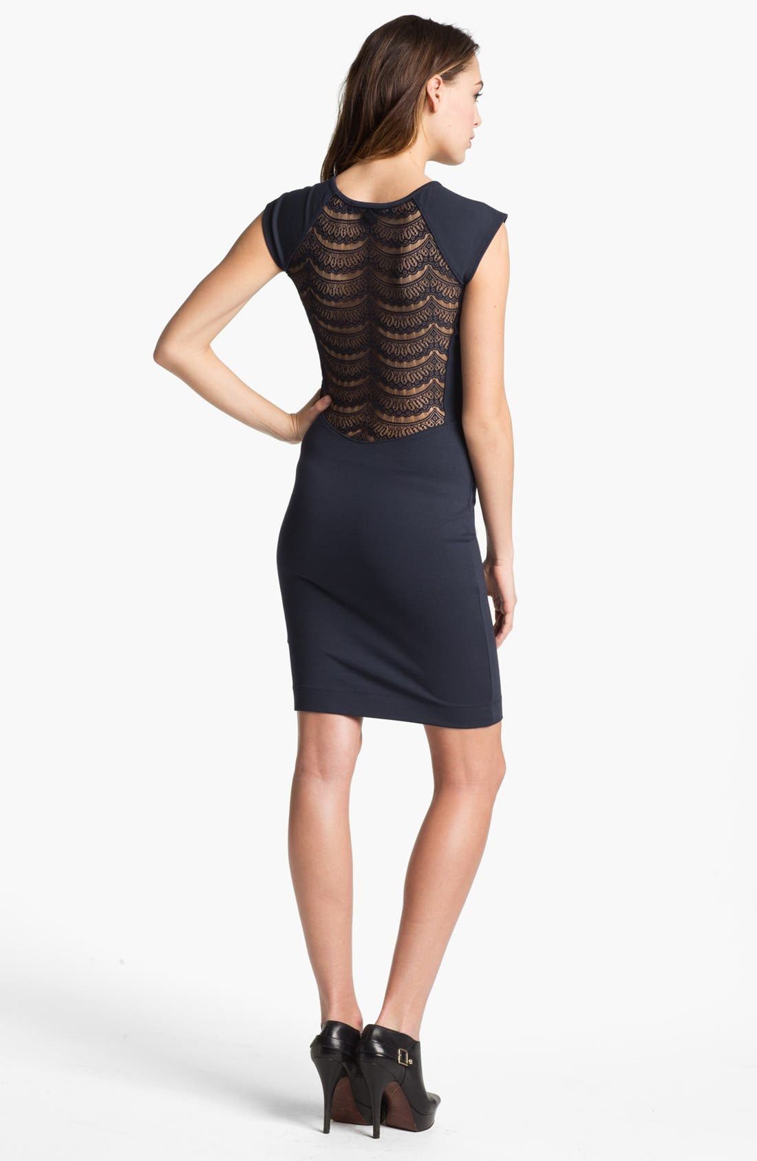 Alternate Image 2  - French Connection 'Dani' Lace Back Jersey Dress